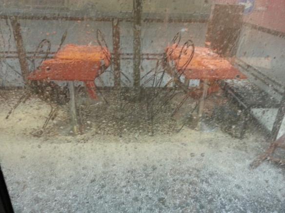 Ambush of hail.
